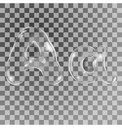 Bubbles letters A vector image vector image