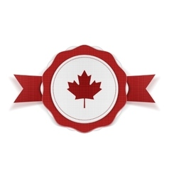 Canada patriotic Banner with Ribbon vector image