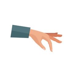 cartoon human hand man gesture icon vector image
