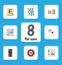 flat icon entertainment set of mahjong poker vector image vector image