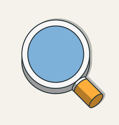 flat magnifying glass icon modern design vector image