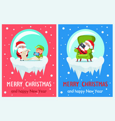 List of gifts merry christmas vector