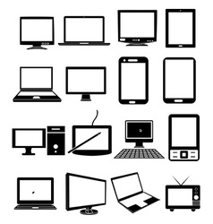 Mobile devices icons set vector image vector image