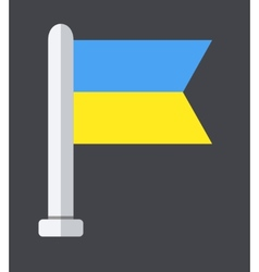 modern ukraine flag background Eps 10 vector image