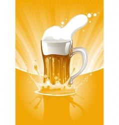 mug of beer vector image vector image
