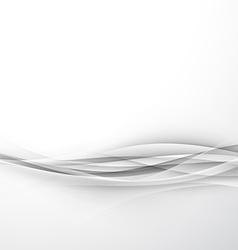 Futuristic elegant hi-tech swoosh wave background vector image vector image