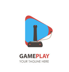 game logo pad icon gamer gaming video controller vector image vector image