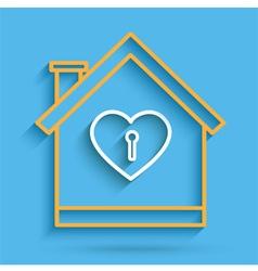 House Heart Key vector image