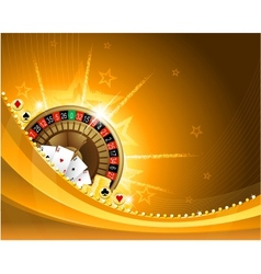 Gambling background with casino elements vector image vector image