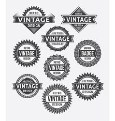 Set of retro vintage badge and label design set vector