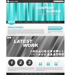 template for company website vector image