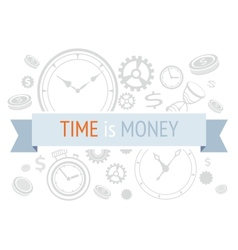 Time is money icons concept vector image