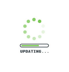 upadting line icon vector image vector image