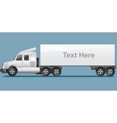 Abstract Modern Long Cargo Truck vector image