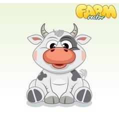 Cute Cartoon Cow vector image vector image