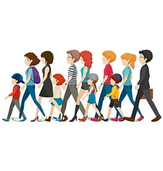 A group of people without faces vector image