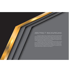 Abstract gold arrow gray modern luxury background vector