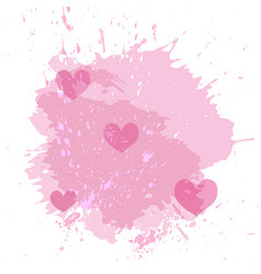 abstract watercolor spot background with pink vector image