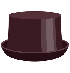 Adult half-cylinder hat flat isolated vector