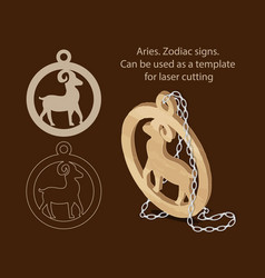 Aries zodiac signs can be used as a template for vector