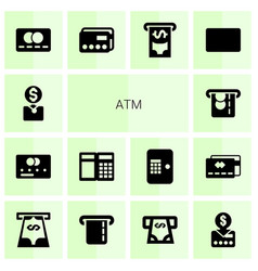 Atm icons vector