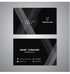 black and white business cards set design vector image