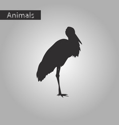 Black and white style icon stork vector