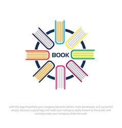 book logo designs vector image