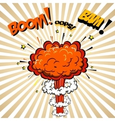 Boom of Comic Pop Art style vector image