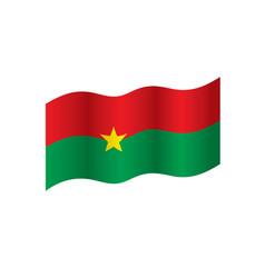 Burkina faso flag vector