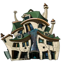 cartoon house curve vector image