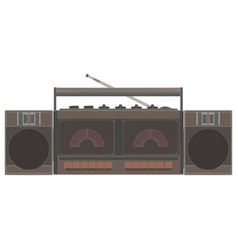 cassette player retro music tape vintage audio vector image