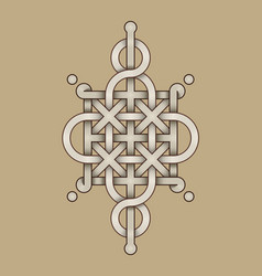 celtic knot - engraved - single chain - wand top vector image