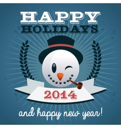 Christmas Holiday Snowman vector image