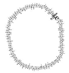 Circular musical notes vector