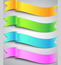 Colorful Ribbon Banner vector