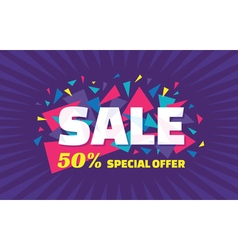 Concept banner special offer big sale vector