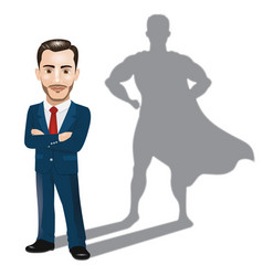 confident businessman standing vector image