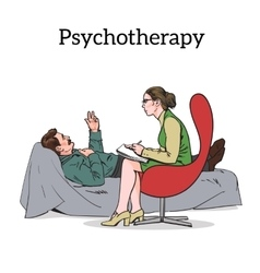 Counselling and assistance of a psychologist vector image