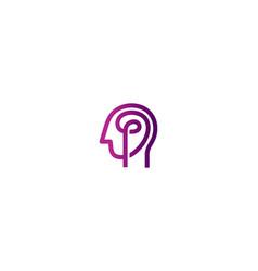 Creative human brain head logo symbol sign icon vector