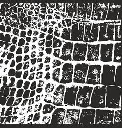 Crocodile skin texture imprint vector