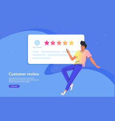 customer review and user testimonials fulfilled vector image