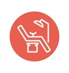 Dental chair thin line icon vector