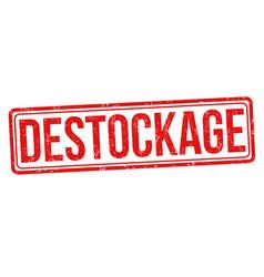 destockage sign or stamp vector image