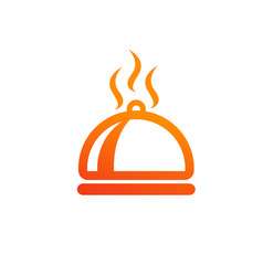 dish food hot meal restaurant icon design vector image