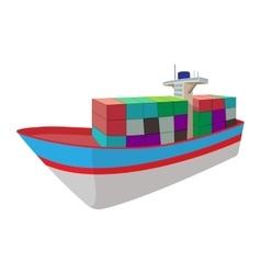 Dry cargo cartoon icon vector