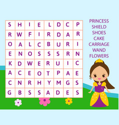 Educational game for children word search puzzle vector