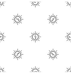 energy of sun pattern seamless vector image