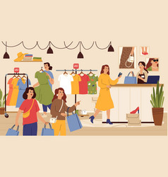 fashion store female shop outlet or sale vector image