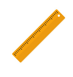 Flat ruler icon isolated rule icon for your web vector